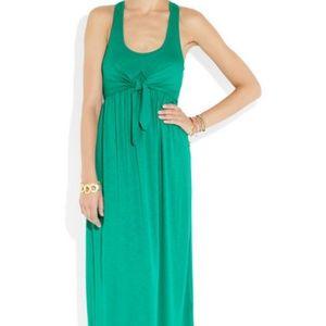 Juicy Couture Green Aqua Blue Maxi Dress